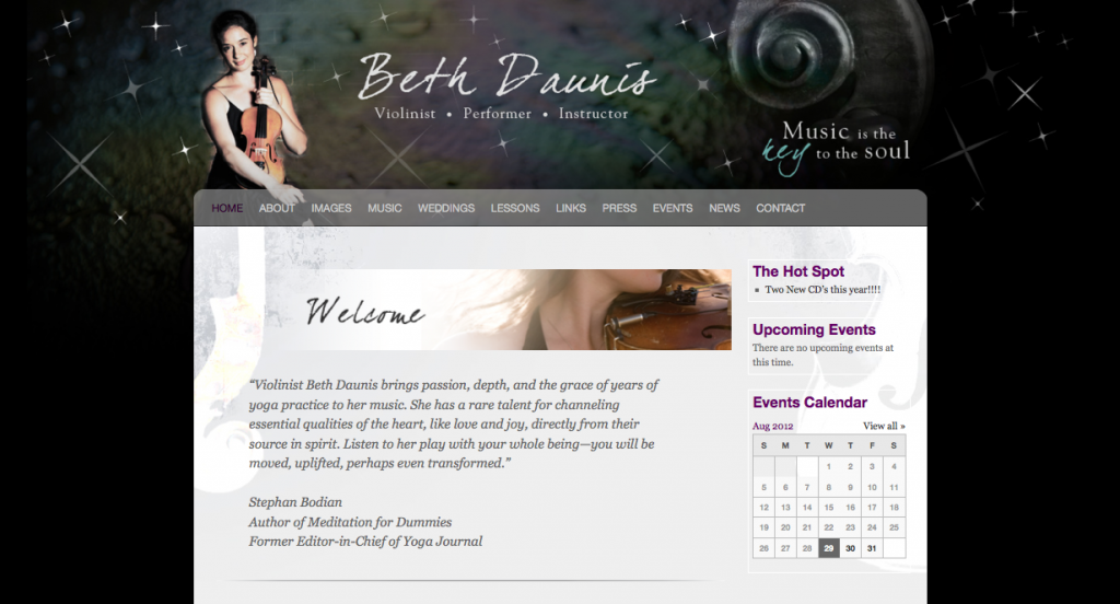 Beth Daunis website