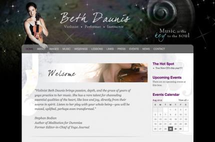 Web Design: bethdaunis.com