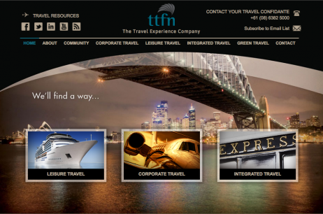 Web Design: TTFN Travel